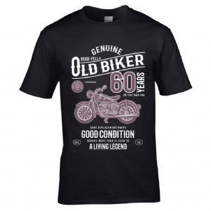 Premium Funny 60 Year Old Biker Classic motorbike Motif For 60th Birthday Anniversary gift t-shirt